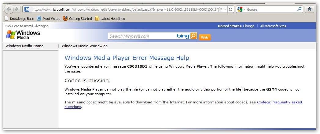 "Microsoft – Windows Media Player – Unable to Play ""GoTo ..."