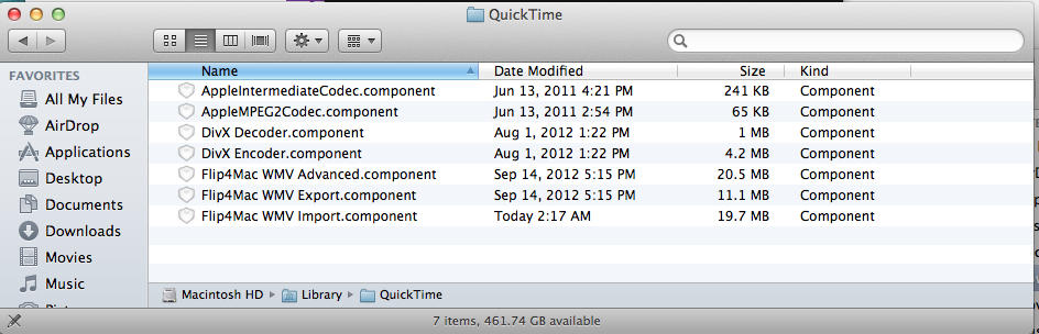 QuickTime Player – Error Message – A required codec isn't