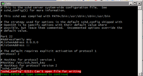 """Cygwin – Editor – Error – Message – """"Can't open file for ..."""