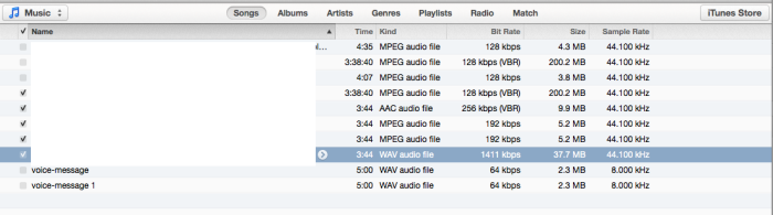 iTunes - Library - View Options