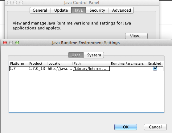 Java Control Panel - JRE - Versioning (Select Version)