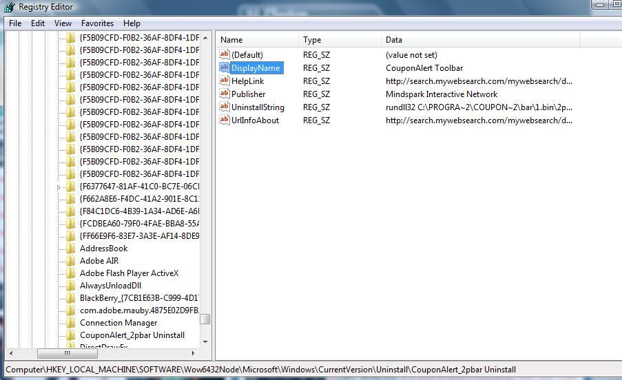 Coupon toolbar virus