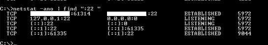netstat - port - 22 - port 22
