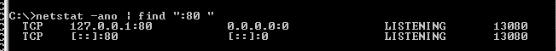 netstat - port - 80