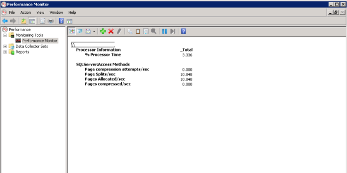 Perfmon - SQL Server - Access Methods