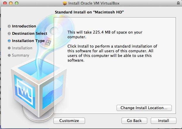 Virtual Box - Standard Install