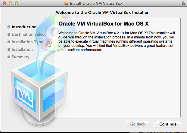 Virtual Box - Welcome Screen