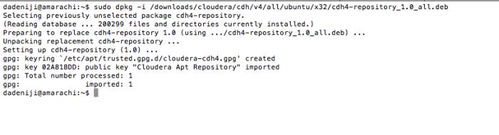 Cloudera - cdh4 - Install - Good