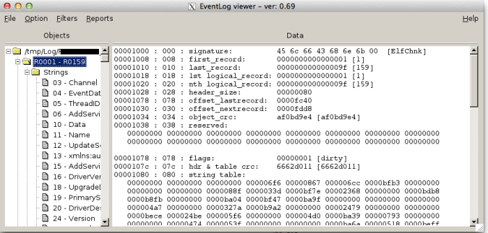 EventLog viewer