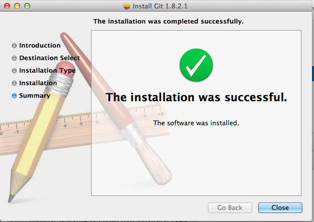 Git - Installation was succcessful