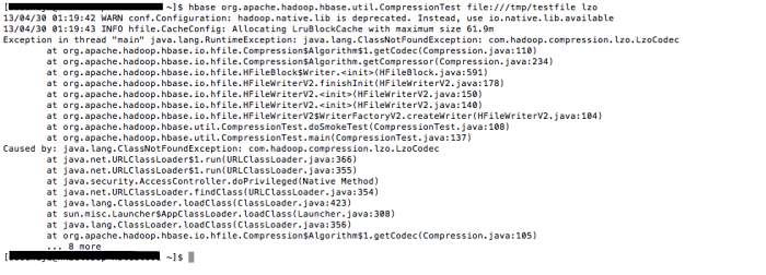 Hadoop - Hbase - Compression Test - File System