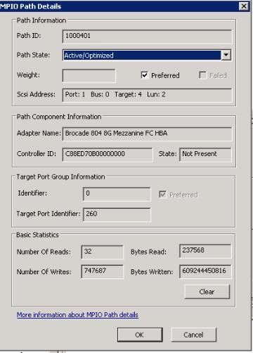 NetApp - MPIO Path Details