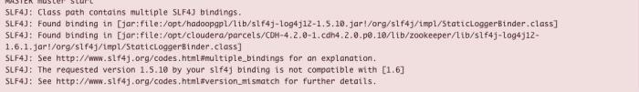 slf4j - incompatible error