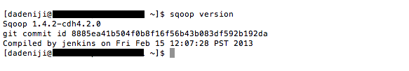 Apache - sqoop - version