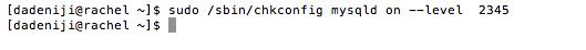 chkconfig -- set -- levels (v2)