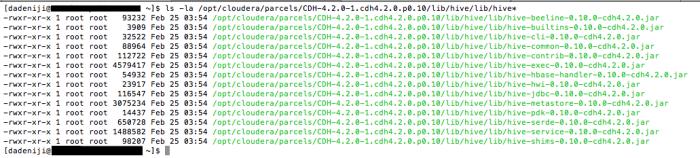 Hadoop - Cloudera Manager - Server - ls Sqoop Jar files