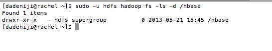 Hadoop - Hbase - Folder Permissions (initial)