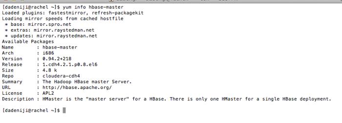 Hadoop - HBase - Master - yuminfo