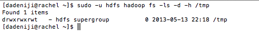 Hadoop - hdfs - ls - :tmp