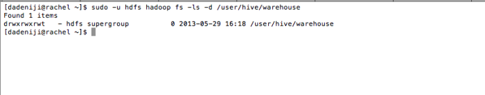Hadoop - HDFS -ls user--hive--warehouse (revised - v2)