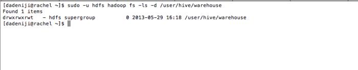 Hadoop - HDFS -ls user--hive--warehouse (revised - v2)