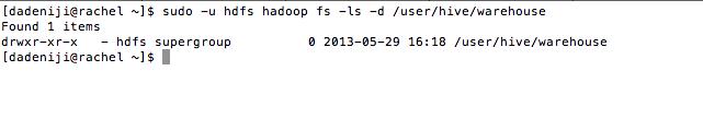 Hadoop - HDFS -ls user--hive--warehouse