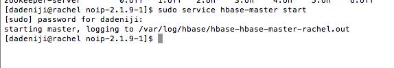 hadoop -- service -- hbase-master -- start