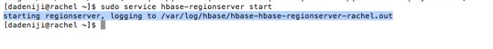 hadoop -- service -- hbase-regionserver - start