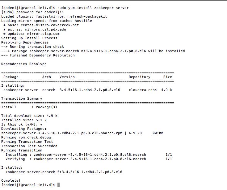 Technical: Hadoop/Cloudera (v4 2 1) – Installation on CentOS