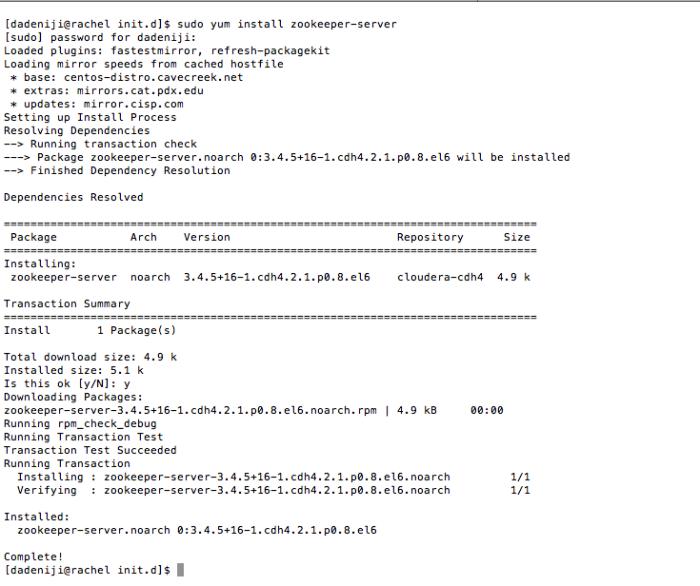 Hadoop - Zookeeper - Install - Log