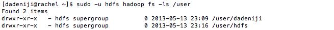 hdfs -- Hadoop -- fs -ls