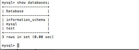Mysql -- Metadata -- show databases