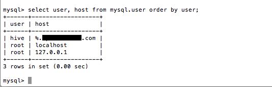 MySQL -- mysql-user (v2)