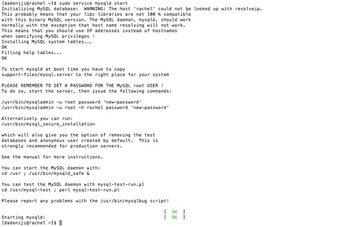 mySQL - Start - Log