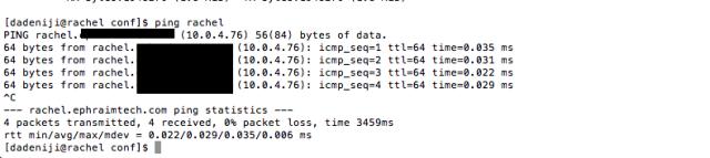 Network - hostname - dns (rachel) -- resolved