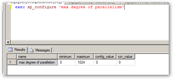 maxdegreeofParallelism