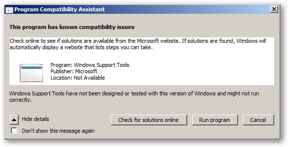 Windows2003SupportoolsInstallOnWindows2008
