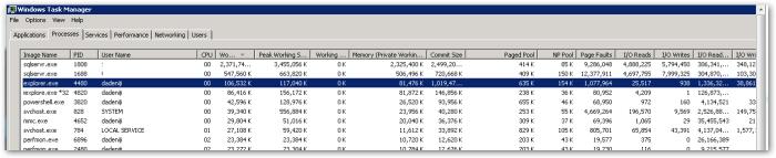 WindowsTaskManager - Working Set
