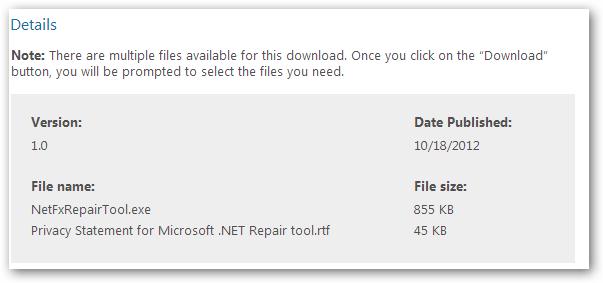 MicrosoftNetRepair-Details