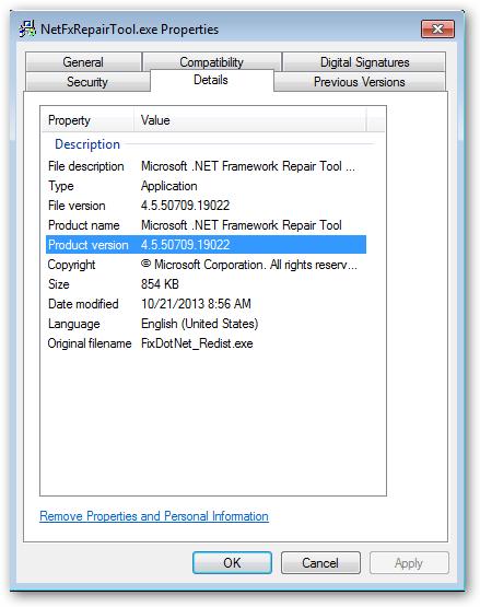 MicrosoftNetRepair