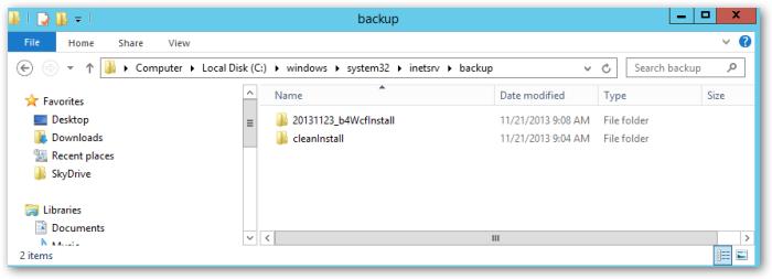 inetsrv-backup-listfolders