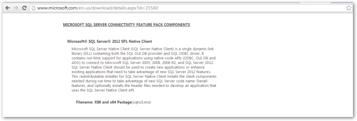 Microsoft SQL Server Native Client _ v2012_v1