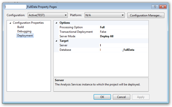 ProjectPropertiesNewDatabase