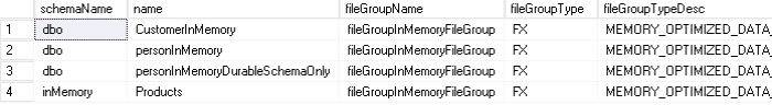 memoryOptimizedTables