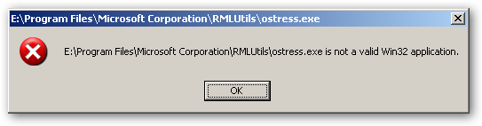 ostress-exe is a not a valid Win32 application