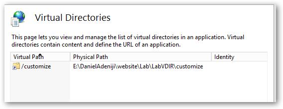 VirtualDirectoryList