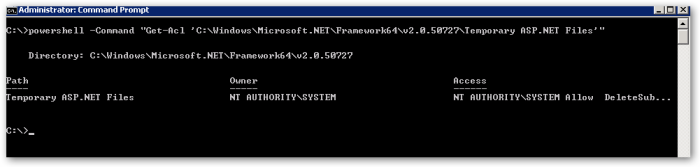 NTFSFolderPermissionsGet