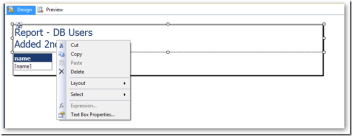 SQL Server Reporting Services–TextBox–Expressions greyed out