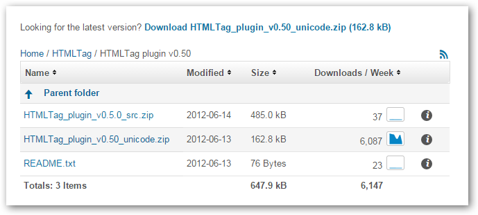 HTMLTagFolders