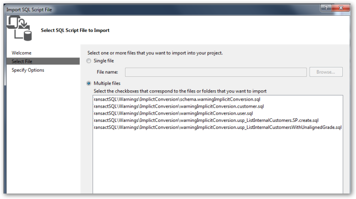 ImportSQLScriptFile-SelectSQLScriptFileToImport